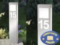 Standleuchte mit Hausnummer aus Edelstahl Cenator CM 41