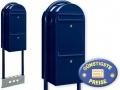 Briefkastenanlage 2 Fächer blau freistehend Cenator BF 528