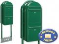Briefkastenanlage 2 Fächer grün freistehend Cenator BF 529