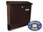Briefkasten mit Zeitungsbox schwarz Cenator BW 181