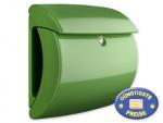 Briefkasten Kunststoff grün glänzend Cenator BW 576