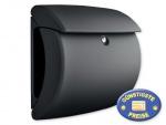 Briefkasten Kunststoff schwarz matt Cenator BW 580