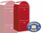 Briefkastenanlage 2 Fächer rot Cenator BF 436