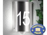 Hausnummerleuchte aus Edelstahl mit Sensor Cenator CM 27