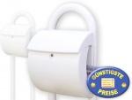 Kunststoff Briefkasten mit Ständer weiß Cenator BW 201