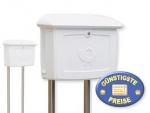 Briefkasten Kunststoff weiß mit Ständer Cenator BW 202