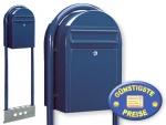 Briefkasten freistehend blau Cenator BF 455