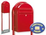 Briefkasten freistehend rot Cenator BF 456