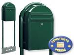 Briefkasten freistehend grün Cenator BF 457