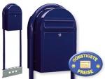 Briefkasten freistehend schwarzblau Cenator BF 458