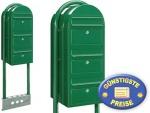 Briefkastenanlage 3 Fach grün freistehend Cenator BF 538