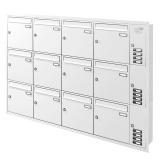 Unterputz Briefkastenanlage 12 Fächer mit Funktionskasten Cenator KN-UP-121-110