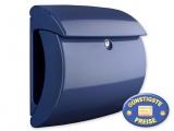 Briefkasten Kunststoff dunkelblau glänzend Cenator BW 574