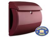 Briefkasten Kunststoff weinrot glänzend Cenator BW 575