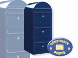 Briefkastenanlage 3 Fächer schwarzblau Cenator BF 447
