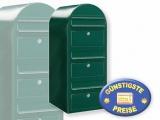 Briefkastenanlage 3 Fächer schwarzgrün Cenator BF 446