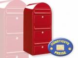 Briefkastenanlage 3 Fächer rot Cenator BF 445