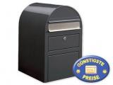 Briefkasten mit Paketfach grau Cenator BF 387