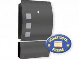Briefkasten anthrazit mit Zeitungsfach Cenator CM 547
