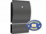 Briefkasten anthrazit mit Zeitungsfach Cenator CM 551