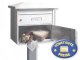Standbriefkasten mit Paketfach weiß Cenator BW 218