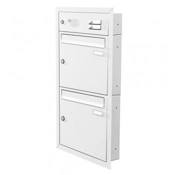 Unterputz Briefkastenanlage 2 Fächer mit Funktionskasten Cenator KN-UP-21-110