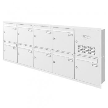 Unterputz Briefkastenanlage 9 Fächer mit Funktionskasten Cenator KN-UP-91-110