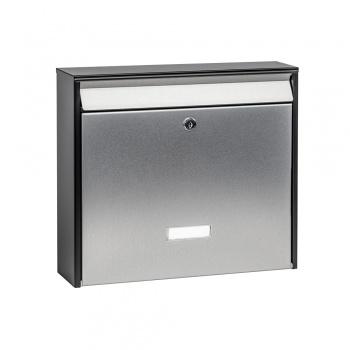Anlagen-Briefkasten Aluis schwarz mit Edelstahl von Cenator