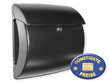 Briefkasten Kunststoff schwarz Cenator BW 101