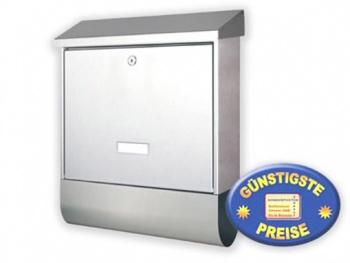Briefkasten mit Zeitungsfach Edelstahl Cenator BW 116