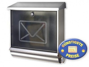Briefkasten-Set Edelstahl Cenator BW 120