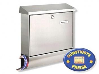Edelstahl Briefkasten mit Zeitungsbox Cenator BW 124