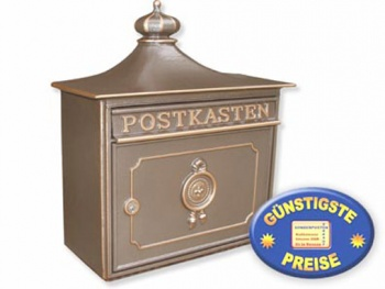 Nostalgischer Briefkasten bronze Cenator BW 132
