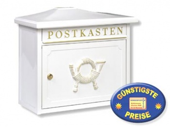 Briefkasten nostalgisch weiß Cenator BW 145