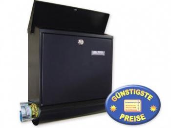 Briefkasten mit Zeitungsfach schwarz Cenator BW 157