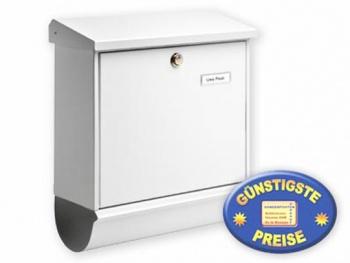 Briefkasten mit Zeitungsfach weiß Cenator BW 158