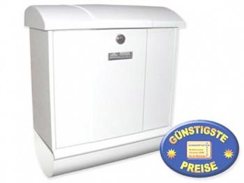Briefkasten mit Zeitungsbox weiß Cenator BW 162