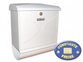 Briefkasten mit Zeitungsbox weiß Cenator BW 166