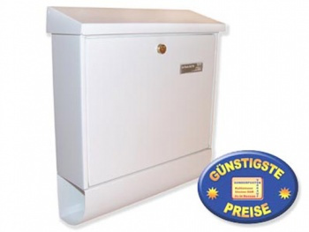 Briefkasten mit Zeitungsbox weiß Cenator BW 178