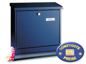 Briefkasten mit Zeitungsbox blau Cenator BW 180