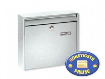 Anlagen-Briefkasten silber Cenator BW 184