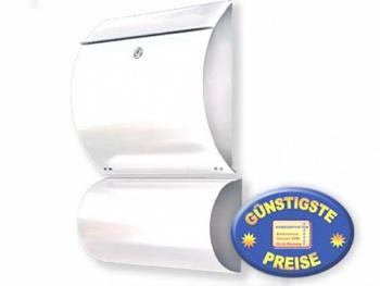 Briefkasten mit Box weiß Cenator KN 308