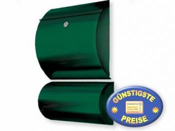 Briefkasten mit Box grün Cenator KN 309