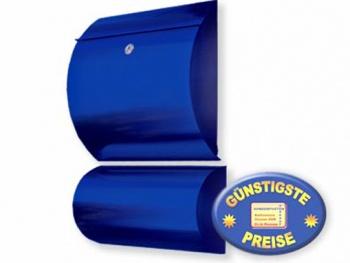 Briefkasten mit Box blau Cenator KN 310