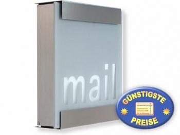 Luxusbriefkasten Edelstahl Cenator KE 349