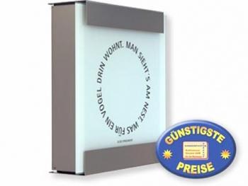 Luxusbriefkasten Edelstahl Cenator KE 350
