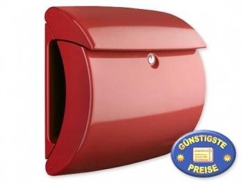 Briefkasten Kunststoff rot glänzend Cenator BW 555