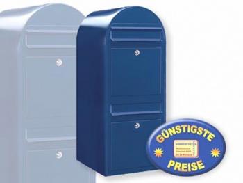 Briefkastenanlage 2 Fächer blau Cenator BF 435