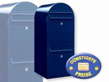 Briefkastenanlage 2 Fächer schwarzblau Cenator BF 438