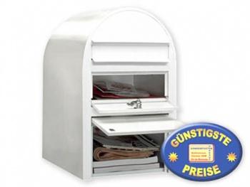 Briefkasten mit Paketfach weiß Cenator BF 386